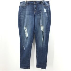 Distressed Ripped Lane Bryant Boyfriend Jeans 20
